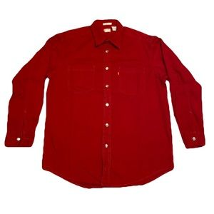 Red Levi's Button Down Long Sleeve Shirt 🛑